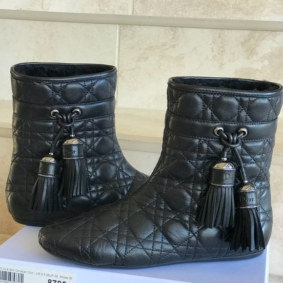 4becab9fe49 Christian Dior Quilted Leather Ankle Boots